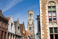 Belfry bruges the tower of in the flanders belgium Stock Photo