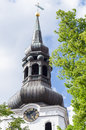 Belfry of the Cathedral of Saint Mary the Virgin in Tallinn Royalty Free Stock Photo