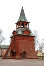 Belfry of the church of the Archangel Michael in Mora. Sweden Royalty Free Stock Photo
