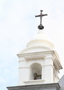 Belfry of a church in manado with corss city north sulawesi indonesia Stock Images