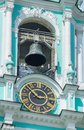 Belfry clock closeup of the in the trinity lavra of st sergius in sergiev posad Stock Photos