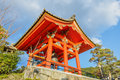 Belfry at the kiyomizu dera complex in kyoto founded heian period present building was constructed by tokugawa iemitsu Royalty Free Stock Images