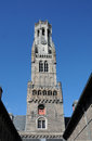 Belfry the is the landmark of the old town of bruges belgium it is situated at market square where you can find always tourist Stock Photos
