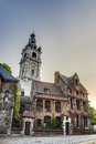 Belfry of mons in belgium one belfries and france a group historical buildings designated by unesco as world heritage site Stock Photography