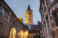 Belfry of mons in belgium one belfries and france a group historical buildings designated by unesco as world heritage site Stock Photo