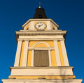 Belfry the old church designed by carl ludvig engel in tampere finland photo taken in april Royalty Free Stock Image
