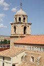 Belfry parish church of cella spain town teruel aragon Royalty Free Stock Photo