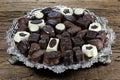 Belgian chocolate pralines Royalty Free Stock Photo