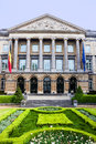 Belgian federal parliament building of in brussels Stock Photos