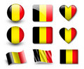 The Belgian flag Royalty Free Stock Images