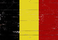 Belgian flag painted on a wooden board Royalty Free Stock Photo