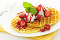 Belgian waffles Royalty Free Stock Images