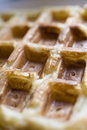 Belgian Waffles: Up Close and Personal Royalty Free Stock Photo