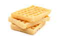 Belgian waffles waffels close up isolated Royalty Free Stock Images