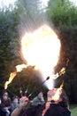 Belgioioso Fantasy 2009: Fire eater Royalty Free Stock Photography