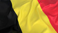 Belgium flag d isolated majestic Stock Image