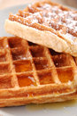 Belgium waffles Royalty Free Stock Photography