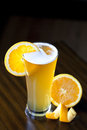 Belgium wheat ale with orange slice a glass of an Royalty Free Stock Images