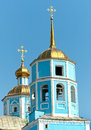 Belgorod大教堂城市smolensky正 的俄国 别尔哥罗德州市,俄罗斯 库存照片