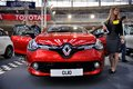Belgrade car show serbia march international and motopassion on fair renault clio Royalty Free Stock Photography