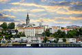 Belgrade cityscape on Danube Royalty Free Stock Photography