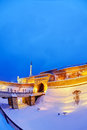 Belgrade fortress and Kalemegdan park with snow Royalty Free Stock Photo