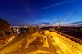 Belgrade fortress at night serbia Stock Images