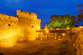 Belgrade fortress at night serbia Stock Photos