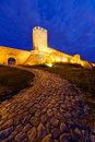 Belgrade fortress at night serbia Stock Photo