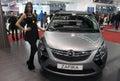 Belgrade march : 汽车 th国际 尔格莱德车展的opel zafira。 月 日在 尔格莱德,塞尔 亚 免版税库存照片