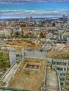 Belgrade on the roof roofs of Stock Photo