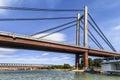 Belgrade's New Railway Suspension Bridge on Sava River - Serbia Royalty Free Stock Photo