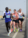 BELGRADE, SERBIA - APRIL 22: A group of marathon competitors during the 30 th Belgrade Marathon
