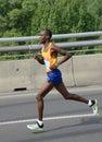 BELGRADE, SERBIA - APRIL 22: Stephen Kipnegetich Katam runs on 30th Belgrade marathon