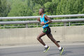 BELGRADE, SERBIA - APRIL 22: An unidentified man runs in 30th Belgrade Marathon