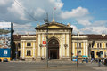 Belgrade serbia front facade of the belgrade glavna railway station building may was built in by oriental Royalty Free Stock Images