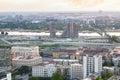 BELGRADE, SERBIA  JULY 22, 2017, Belgrade Waterfront construction site Royalty Free Stock Photo