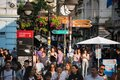 stock image of  Belgrade, Serbia, June 2, 2019 : Walking zone crowded with people in the centre of Belgrade