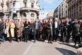 Belgrade serbia march leaders of democracy in serbia walk in honor of years since the death of serbian prime minister zoran Stock Photos