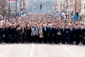 Belgrade serbia march serbian people walk honor years death serbian prime minister zoran djindjic march belgrade serbia Stock Photography