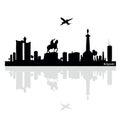 Belgrade vector illustration Royalty Free Stock Photo