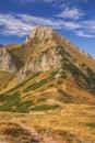 Belianske tatry scenic mountain peak of in slovakia on sunny autumn day Stock Photography