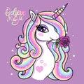 Believe in magic. A beautiful unicorn.