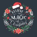 Believe in the Magic of Christmas wreath Royalty Free Stock Photo