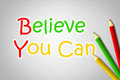 Believe you can concept text Royalty Free Stock Photos