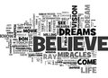 Believe In Your Dreams Word Cloud Royalty Free Stock Photo
