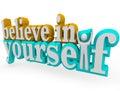 Věřit v si  trojrozměrný slova