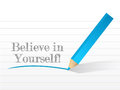 Believe in yourself illustration design on a white background Royalty Free Stock Image