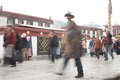 Believer there are many believers paying respects to the jokhang temple everyday from everwhere in tibet Stock Image