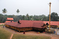 Believers praying at the hindu temple of kollam india january on india Royalty Free Stock Photos